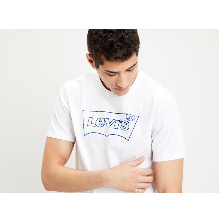 Levi's Housemark tee large batwing outline white