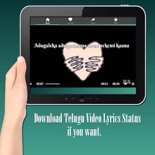 Telugu Video Lyrics Status - náhled