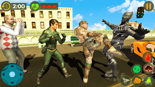 Panther Superhero Rescue Mission Crime City Battle for PC