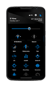 Blak Azurro  CM12-13 Theme screenshot 1