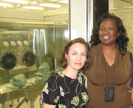 Photo: Moon rocks, me & Principle Scientist Andrea Mosie, who was kind enough to give us an LSL tour!