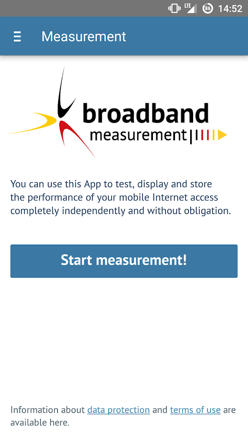 Broadband Measurement- screenshot