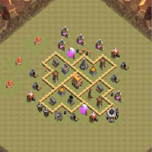 Town Hall 5 War Base Layouts - náhled