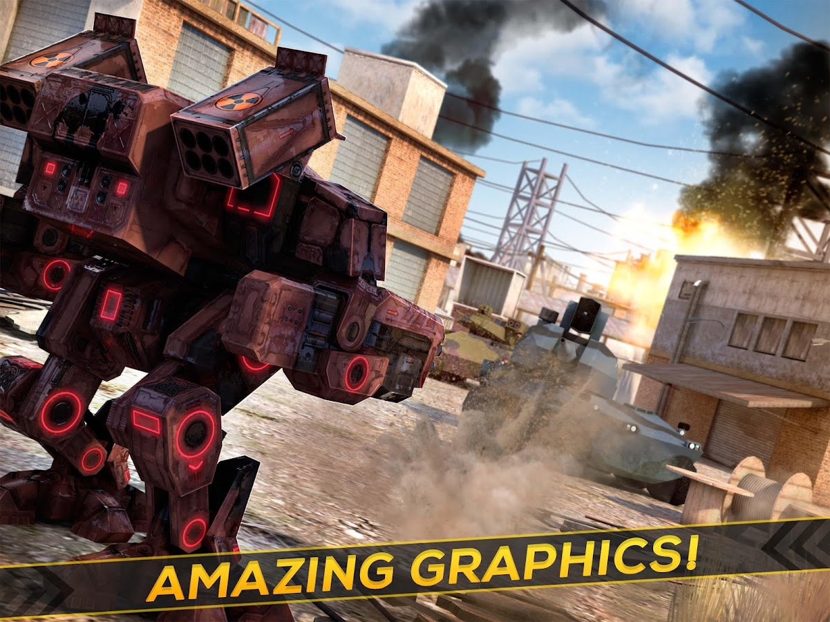 Robots Tanks of War - Transformation Fighting- screenshot
