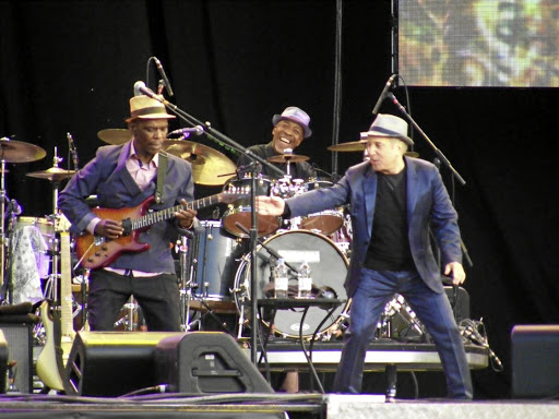 State of grace: Paul Simon and Ray Phiri on stage at the time the Grammy-winning Graceland took the world by storm. Picture: TIMESLIVE