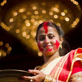happiness by  Bivahasutra Wedding Photography - People Portraits of Women ( bengali culture, bangla, westbengal, kolkata, india, bengali, bengal )