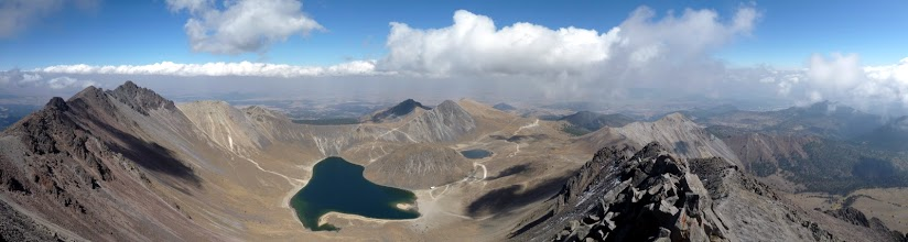 Photo: View from the summit of Nevado de Toluca, Toluca, Mexico