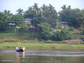 Photo: Ferry crossing the river - I took it across to the guest house on the other side I stayed at while in Hampi.