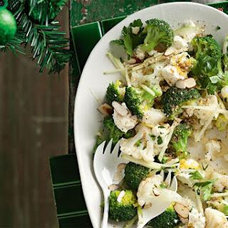 Nutty Broccoli And Cauliflower Salad