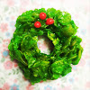 christmas cookie, christmas wreath cookie, easy, no bake, recipe