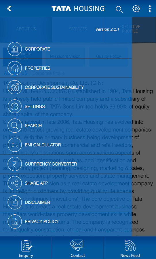 Tata Housing- screenshot