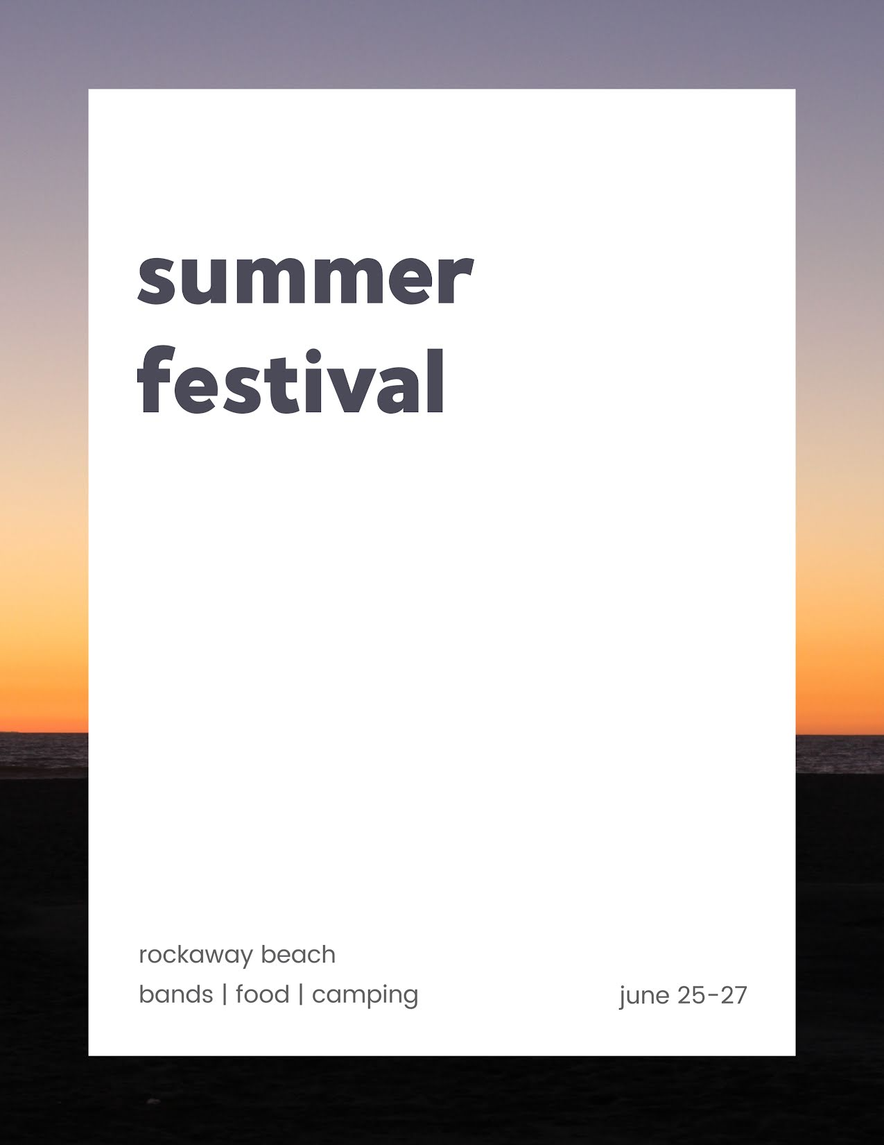 Summer Beach Festival - Flyer Template
