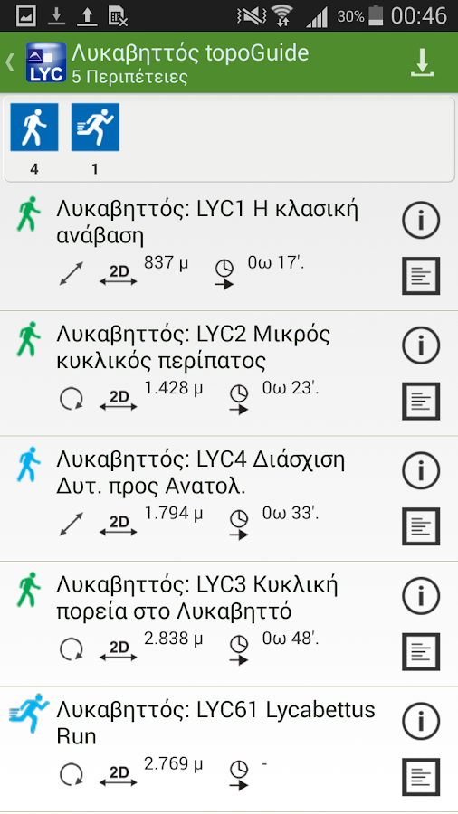 Λυκαβηττός topoGuide - στιγμιότυπο οθόνης