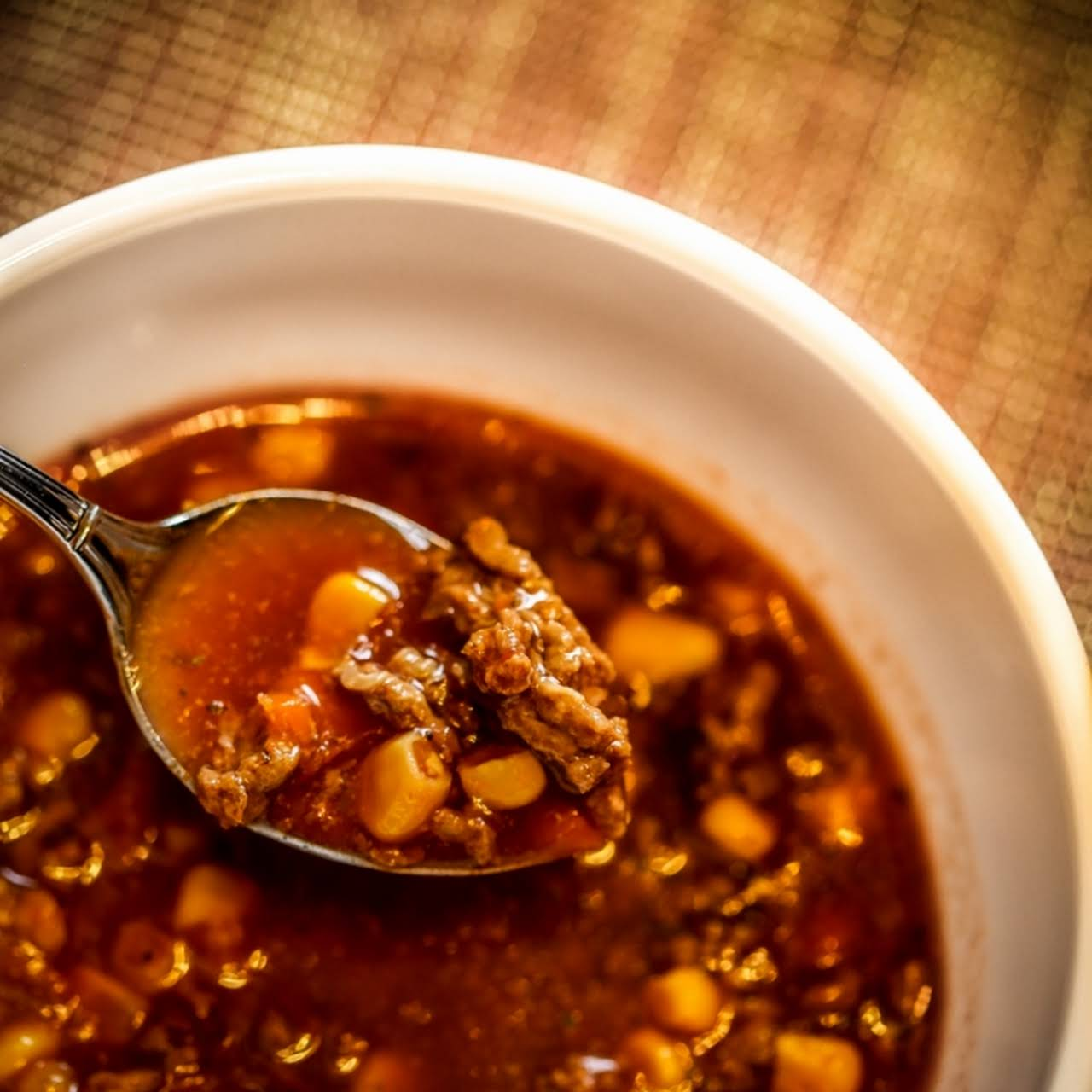 Hearty Hamburger Soup to  admiring your soul