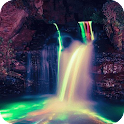 Neon waterfall Live WP icon