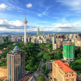 Kuala Lumpur by Zaid Zaza - Travel Locations Landmarks ( kl tower, skyscrapper, forest, cityscape )