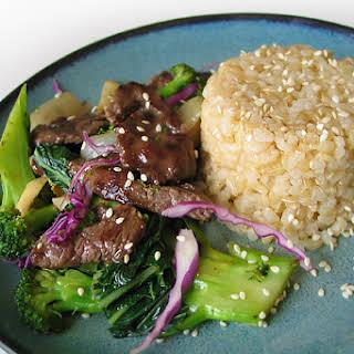 Bison, Broccoli & Celery Root Stir-Fry.