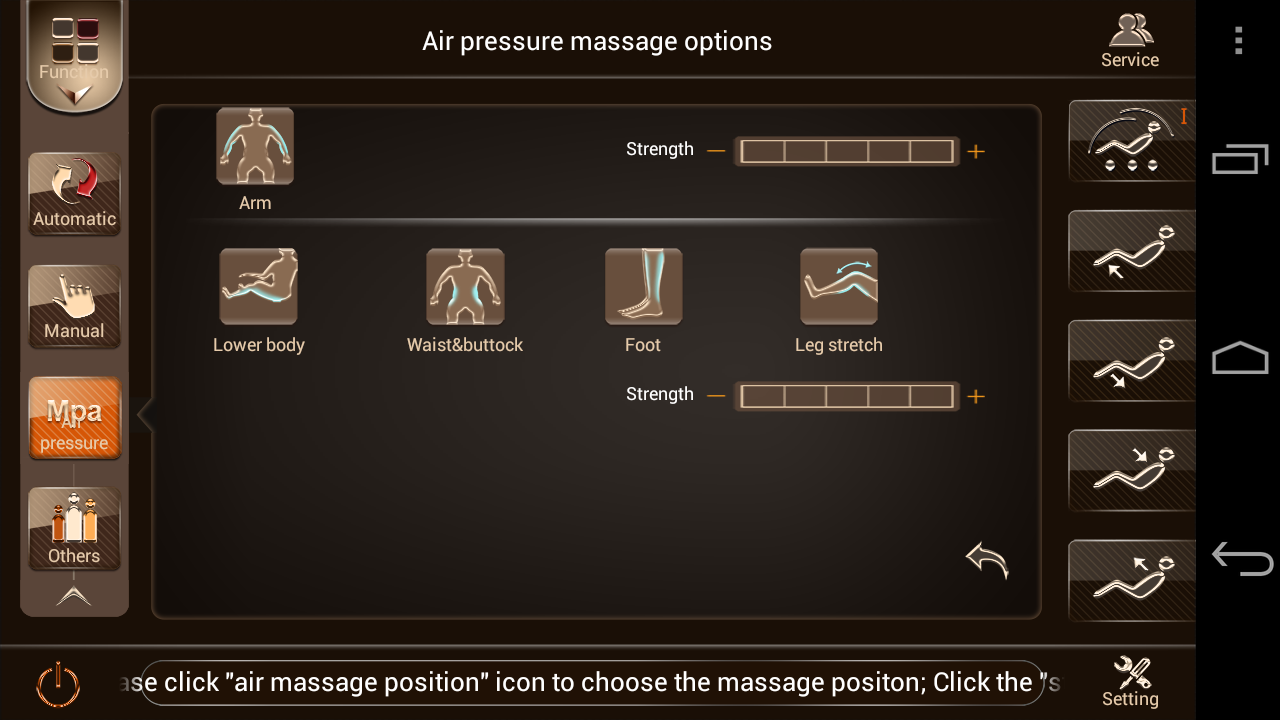 Apex Lotus Massage Chair App- screenshot