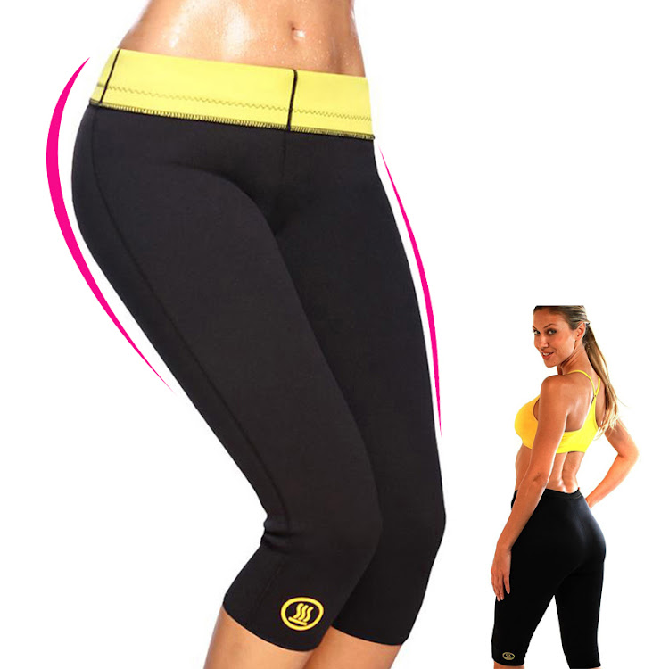 As seen on Tv Hot Shapers Slimming Pants Womens Capri Slimming Black by Supermodels Secrets