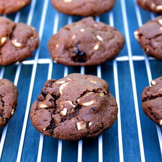 Chocolate Cookies with White Chocolate Chips, Dried Cherries and Almonds