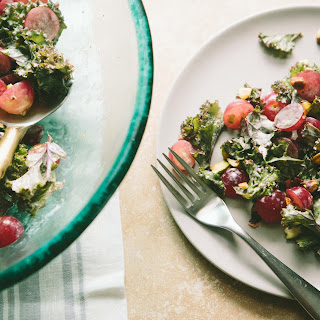 Red Kale and Grape Salad
