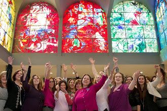 Photo: The Hadassah Leadership Fellows at a private viewing of the Chagall Windows at the Abell Synagogue