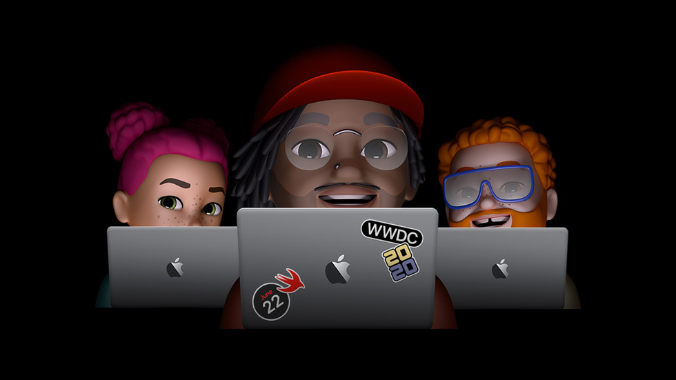 WWDC 2020 poster with new Memoji's.