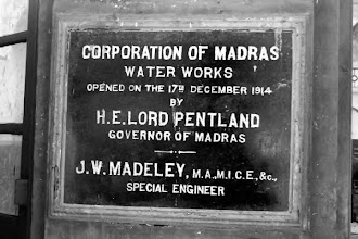 Photo: Corporation of Madras - Waterworks inaugraul stone.