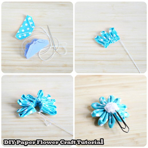 Paper flower craft tutorial apps on google play mightylinksfo