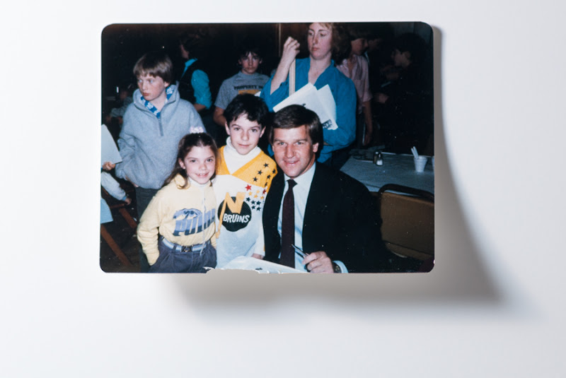 Photo: Me, my sister, and Bobby Orr c.1985