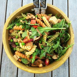 Marinated Tofu Pasta Salad.