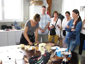 Photo: Tasting Idiazabal cheese.