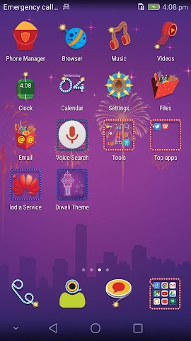 android Honor 6 Diwali Theme Screenshot 1