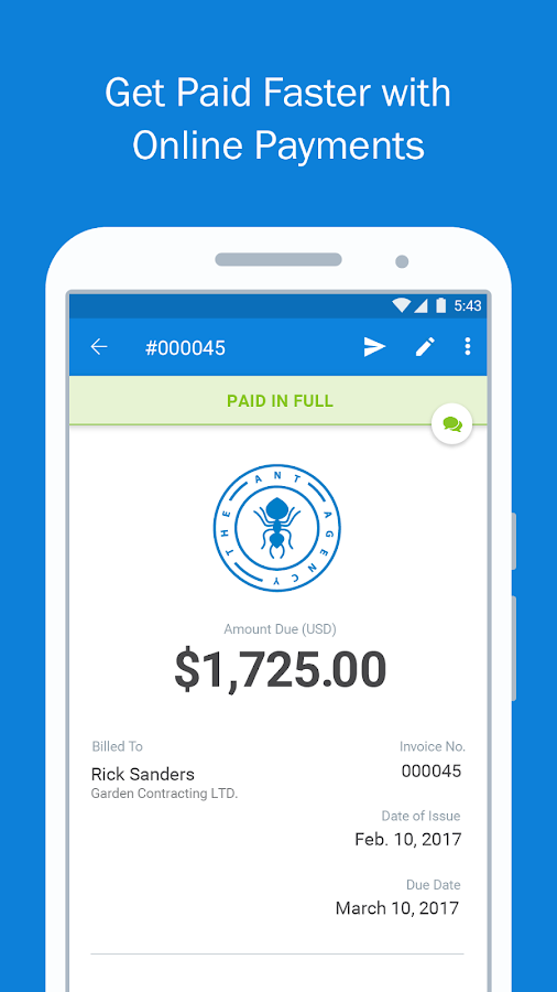 FreshBooks -Invoice+Accounting- screenshot