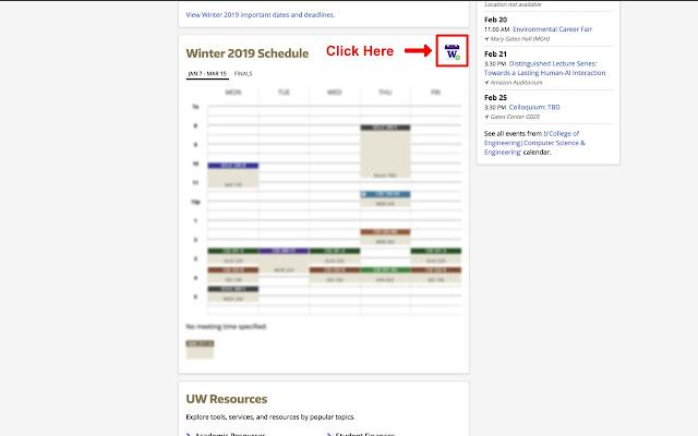 UW Schedule to Google Calendar