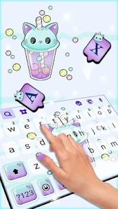 Kitty Bubble Tea Keyboard Background 2