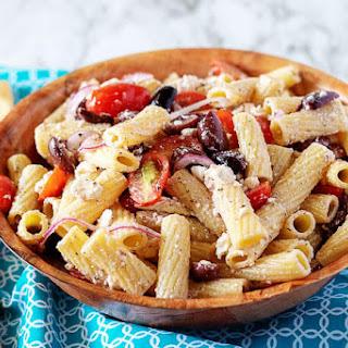 Easy Greek Pasta Salad.