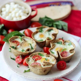 Caprese Egg Cups   Healthy & High Protein Breakfast.