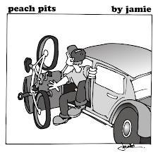"Photo: Peach Pits: ""Commute"""