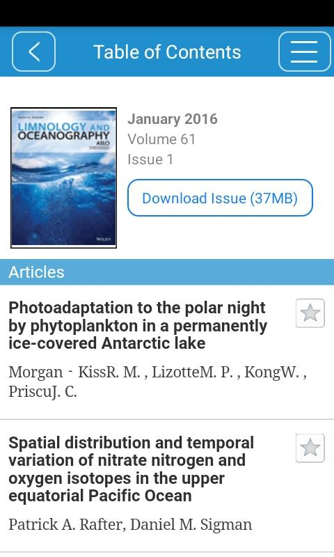 Limnology and Oceanography- screenshot