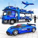 US Police Car Transport Games: Truck Driving Games icon