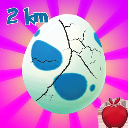 Egg Hatching Poke Gen 2 :  2 Km