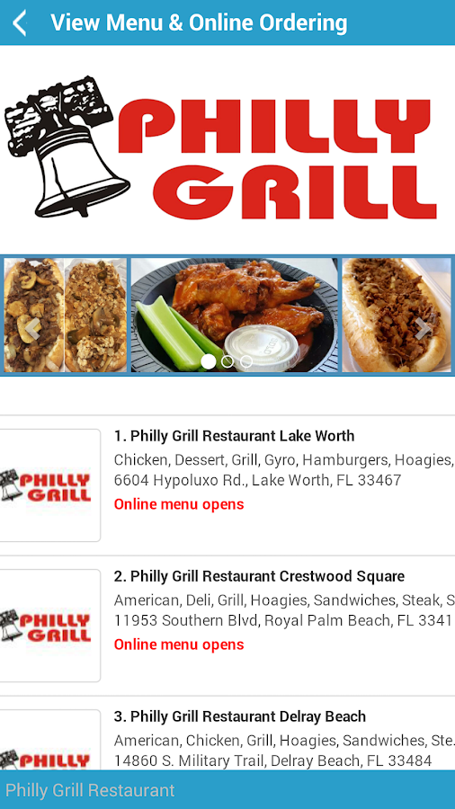 Philly Grill- screenshot
