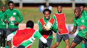 Bafana Bafana players take part in a training session at Princess Magogo Stadium on September 3 2018. Bafana take on Libya on Saturday September 8 in a crucial 2019 Africa Cup of Nations qualifier at Moses Mabhida Stadium in Durban.