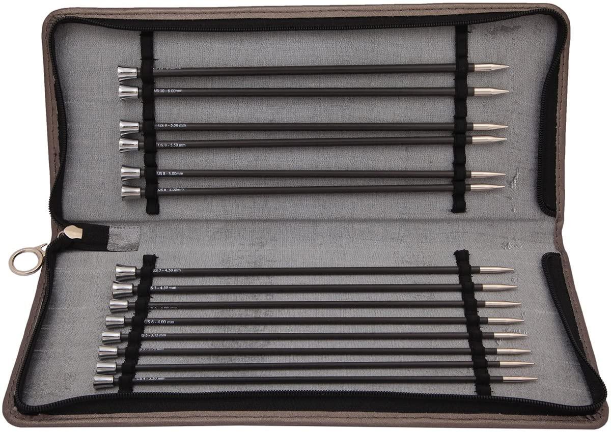 best Knitting Needles | Knitter's Pride Karbonz Straight Needle Set