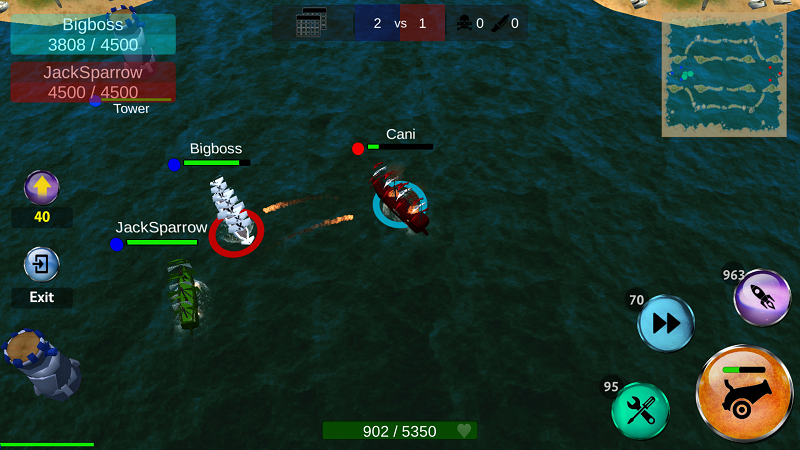 Battle of Sea: Pirate Fight- screenshot