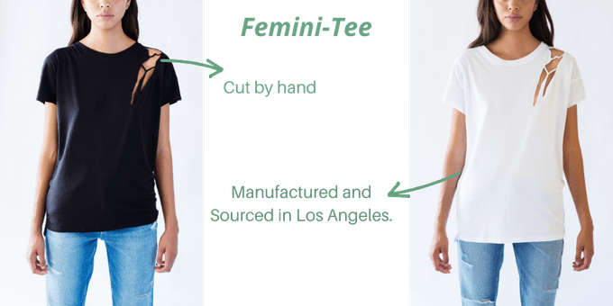 Femini - Tee Available in Black and White