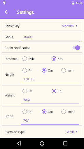 Pedometer screenshot 4