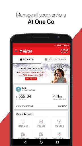 My Airtel-Recharge, Bill, Bank screenshot 2