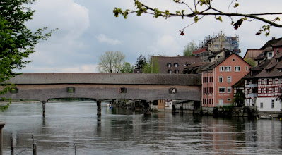 Photo: Day 33 - A View of an Old Wooden Bridge  (we think Diessenhofen)